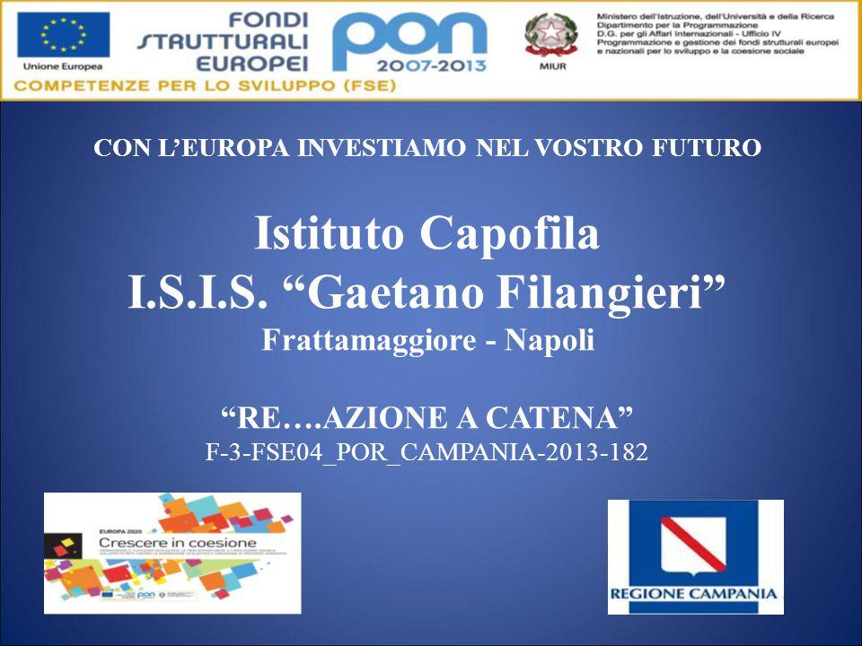 CON L'EUROPA INVESTIAMO NEL VOSTRO FUTURO Istituto Capofila I.S.I.S.