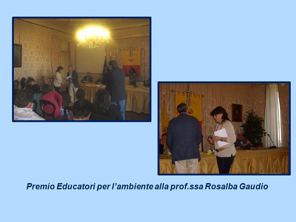Premio Educatori per l'ambiente alla prof.ssa Rosalba Gaudio