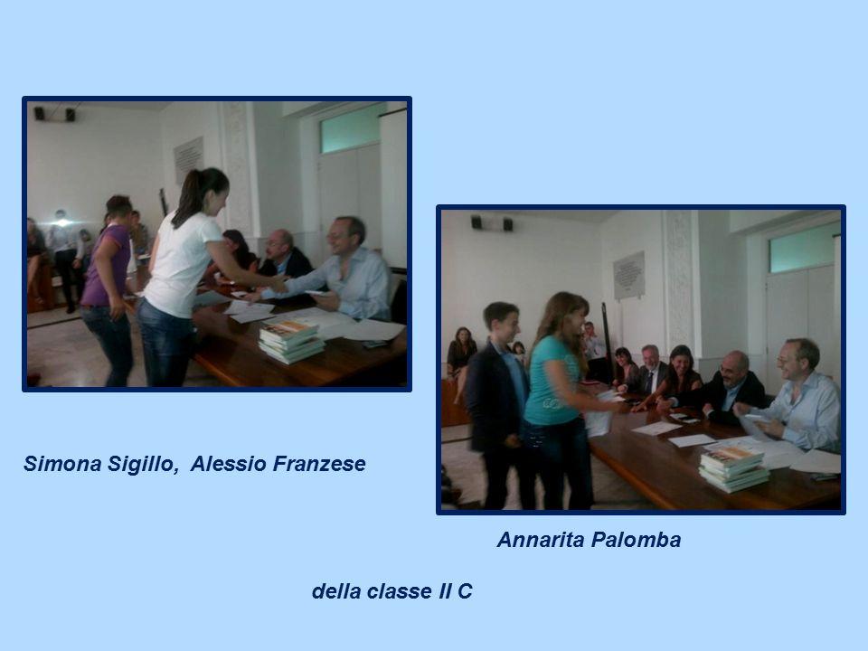 Simona Sigillo, Alessio Franzese Annarita Palomba della classe II C