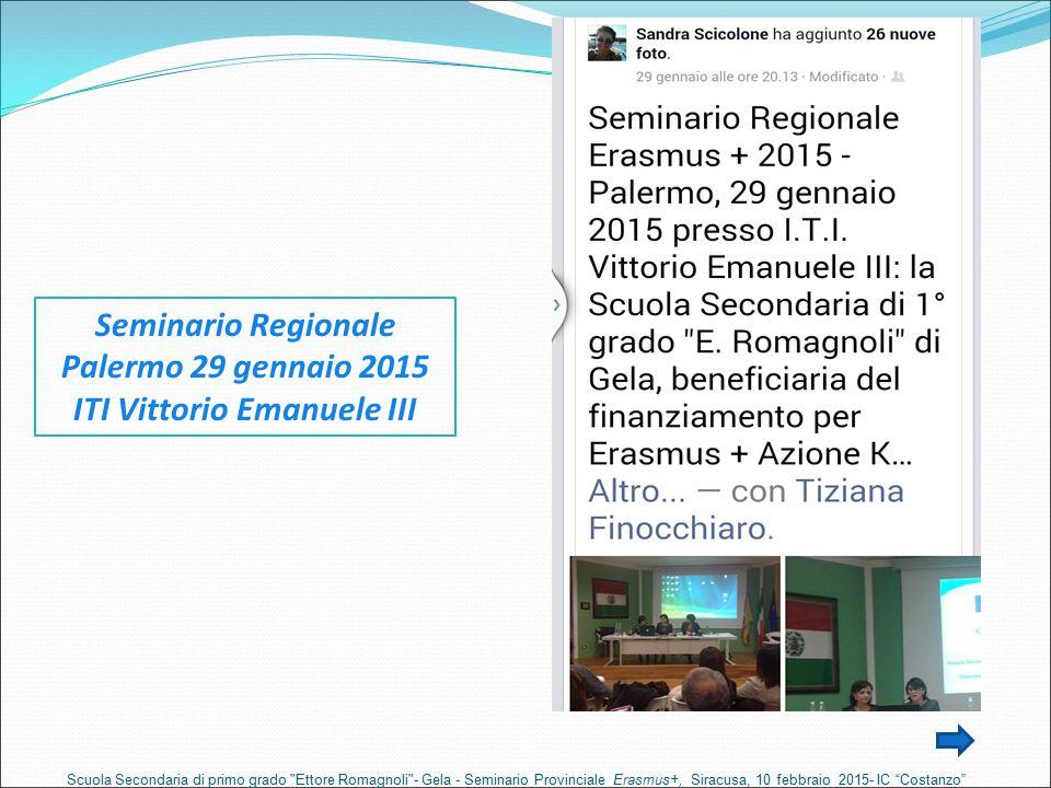 Seminario Regionale Palermo 29 gennaio 2015 ITI Vittorio Emanuele III