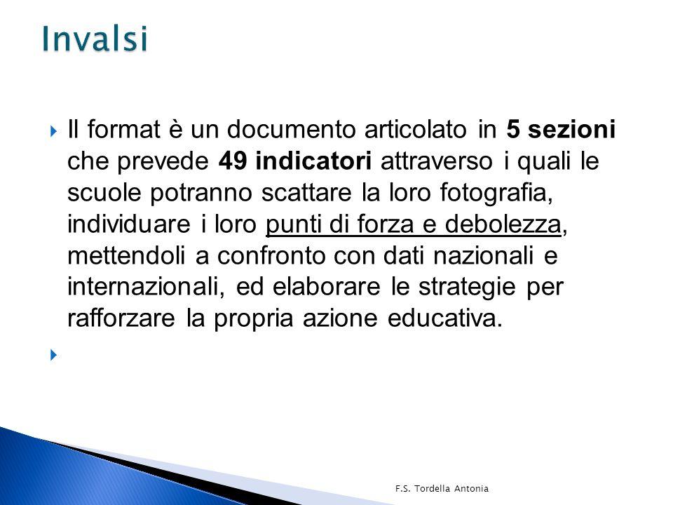  Il format è un documento articolato in 5 sezioni che prevede 49 indicatori attraverso i quali le scuole potranno scattare la loro fotografia, indivi