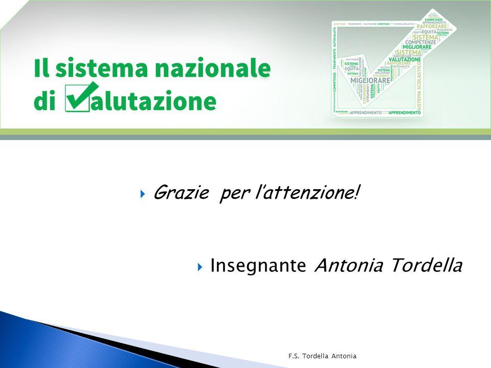  Grazie per l'attenzione!  Insegnante Antonia Tordella F.S. Tordella Antonia
