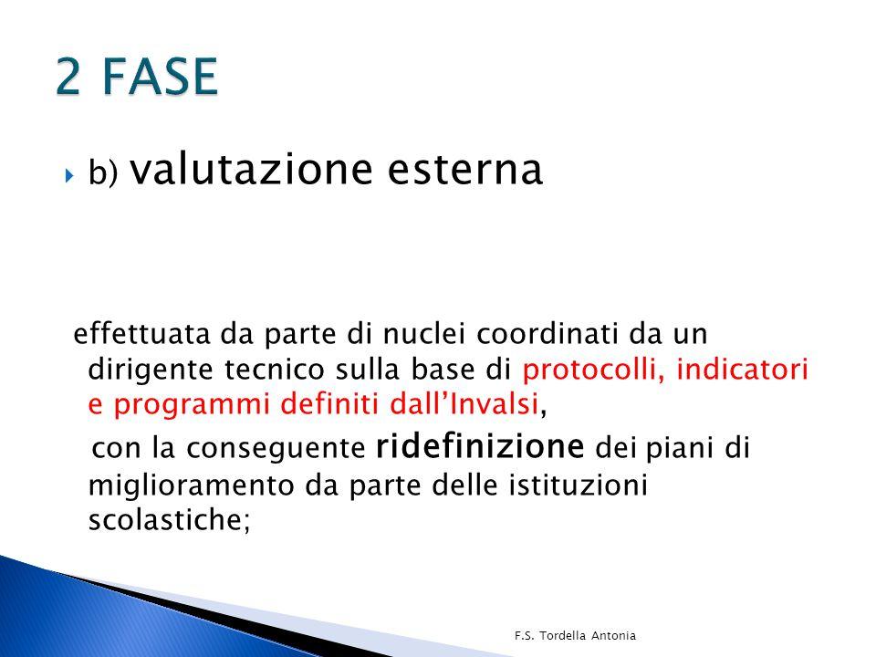  b) valutazione esterna effettuata da parte di nuclei coordinati da un dirigente tecnico sulla base di protocolli, indicatori e programmi definiti da