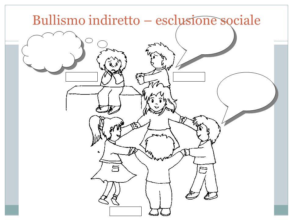 Bullismo indiretto – esclusione sociale