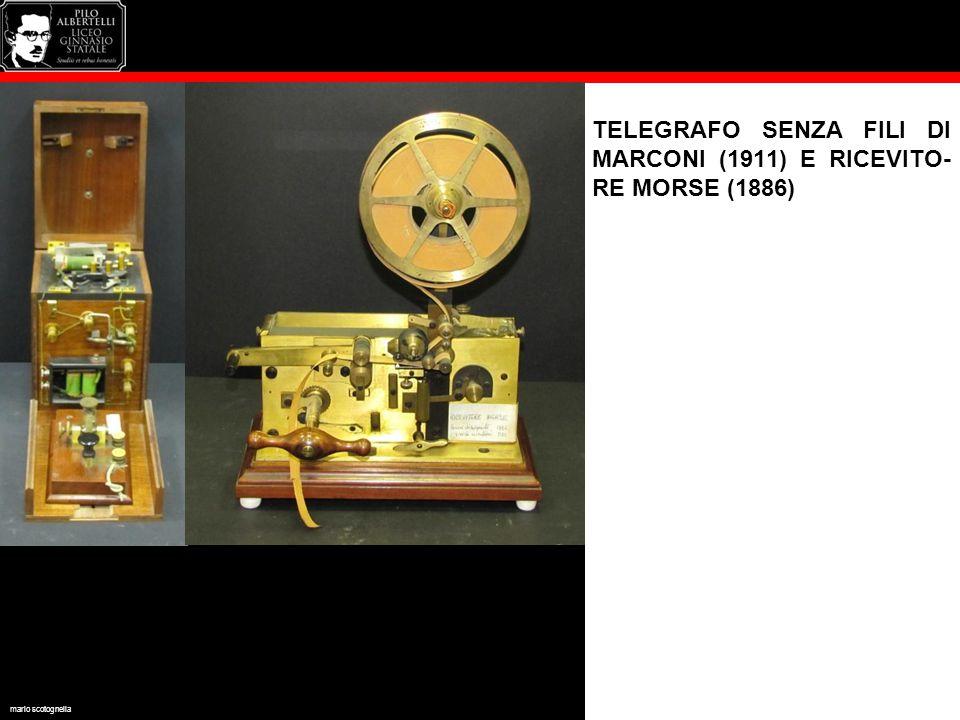 TELEGRAFO SENZA FILI DI MARCONI (1911) E RICEVITO- RE MORSE (1886) mario scotognella