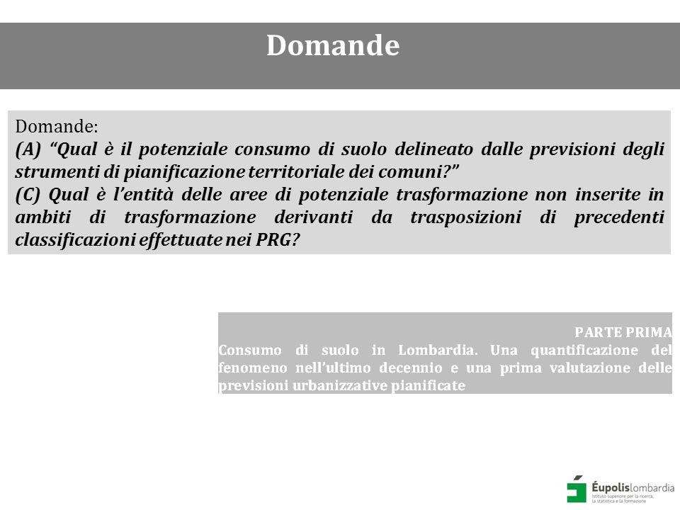 Qual è stato il consumo di suolo in Lombardia.
