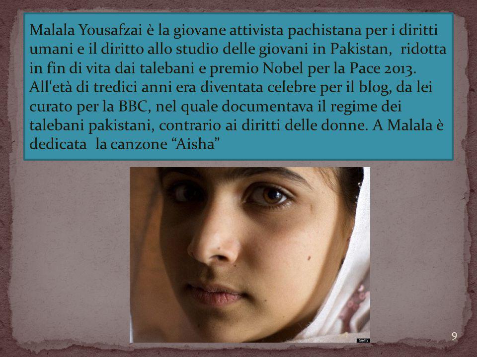 Malala Yousafzai è la giovane attivista pachistana per i diritti umani e il diritto allo studio delle giovani in Pakistan, ridotta in fin di vita dai