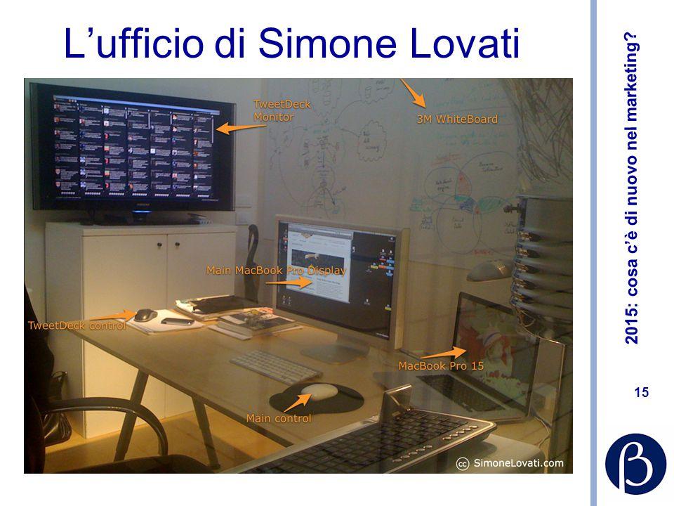 2015: cosa c'è di nuovo nel marketing? 15 L'ufficio di Simone Lovati