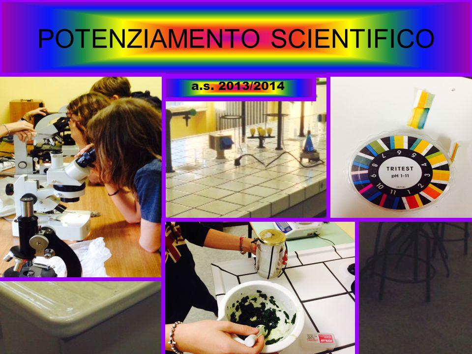 POTENZIAMENTO SCIENTIFICO a.s. 2013/2014