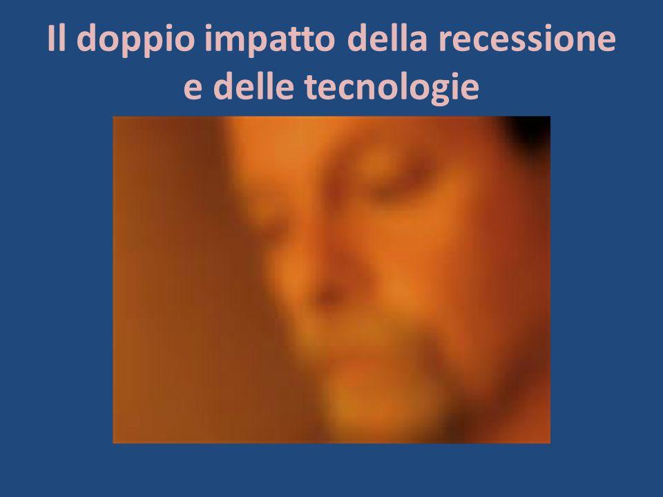 Il doppio impatto della recessione e delle tecnologie