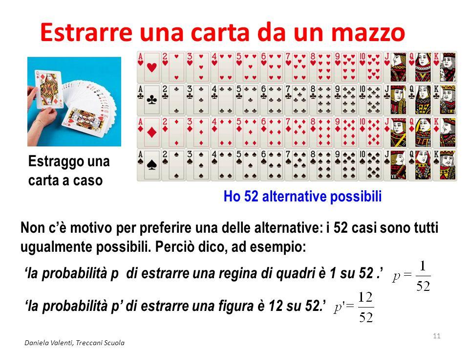 Daniela Valenti, Treccani Scuola 12 Valutazione classica della probabilità Storicamente questa è stata la prima valutazione di probabilità espressa in termini matematici, perciò prende il nome di 'probabilità classica'.