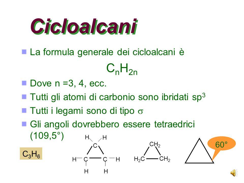 La serie omologa La serie degli alcani rappresenta una serie omologa Ciascun composto ha un atomo di carbonio in più (la catena si allunga) Le proprie