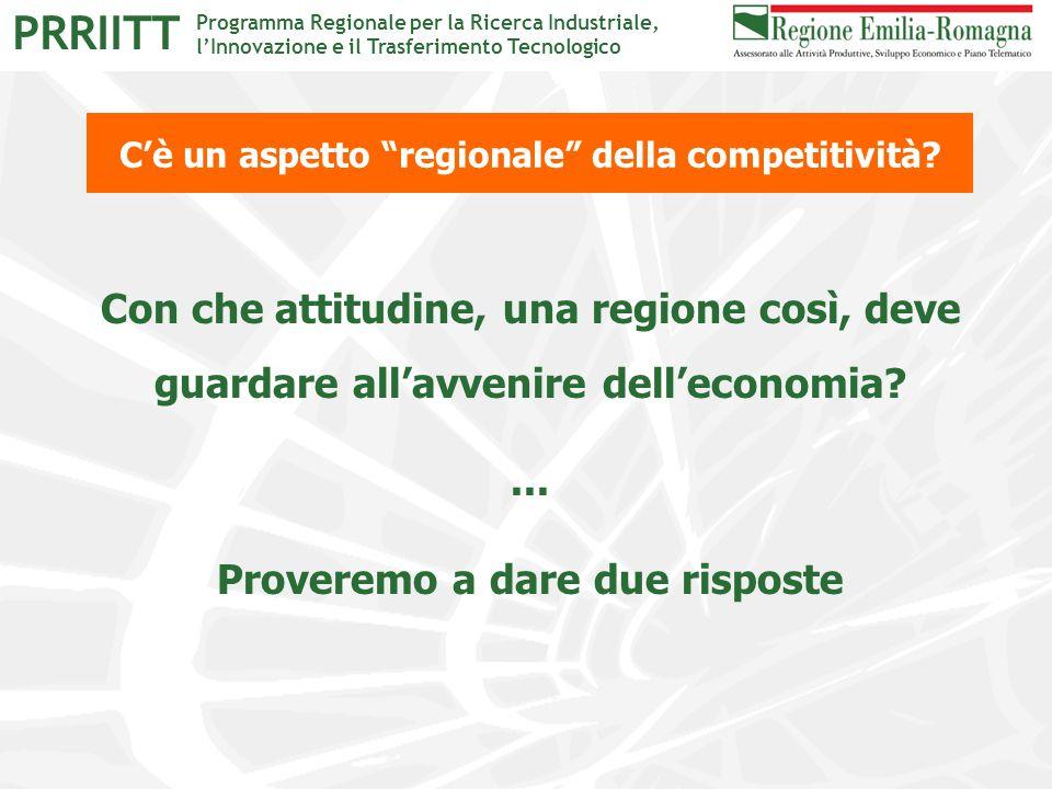 """Programma Regionale per la Ricerca Industriale, l'Innovazione e il Trasferimento Tecnologico PRRIITT C'è un aspetto """"regionale"""" della competitività? C"""