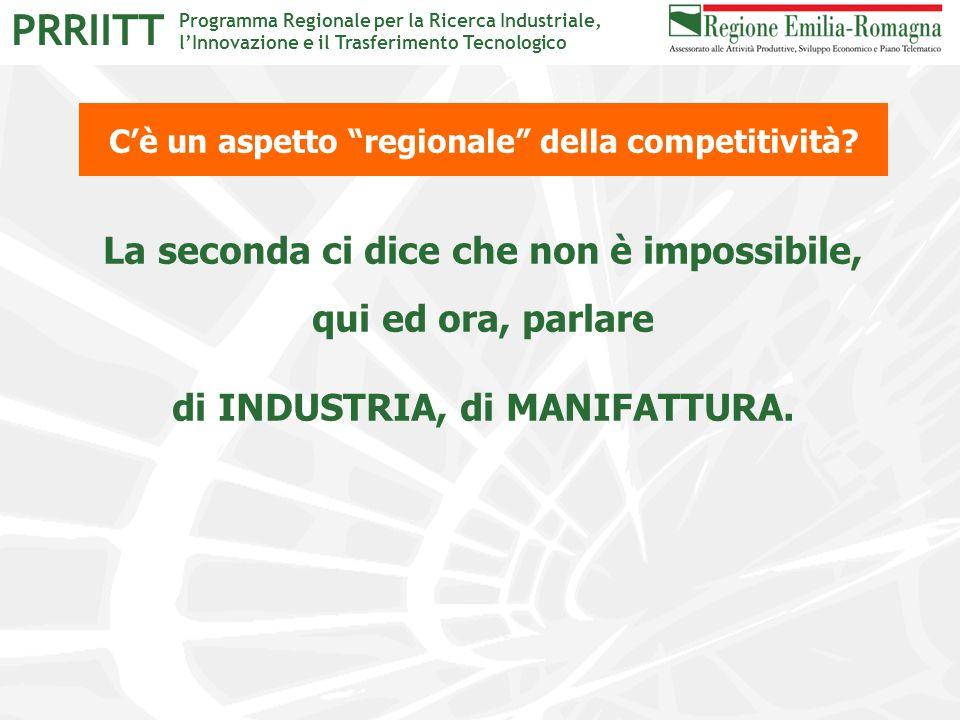 """Programma Regionale per la Ricerca Industriale, l'Innovazione e il Trasferimento Tecnologico PRRIITT C'è un aspetto """"regionale"""" della competitività? L"""