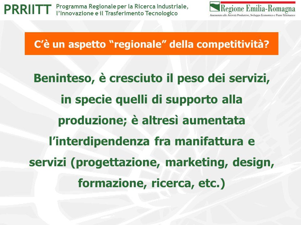 """Programma Regionale per la Ricerca Industriale, l'Innovazione e il Trasferimento Tecnologico PRRIITT C'è un aspetto """"regionale"""" della competitività? B"""
