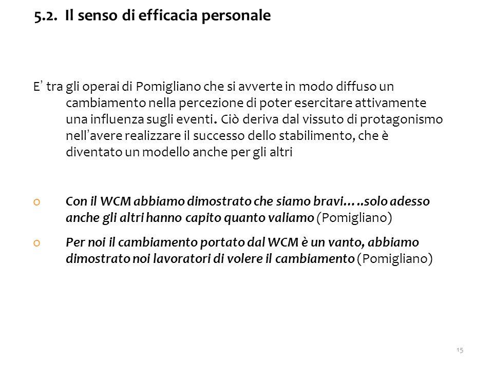 E' tra gli operai di Pomigliano che si avverte in modo diffuso un cambiamento nella percezione di poter esercitare attivamente una influenza sugli eventi.