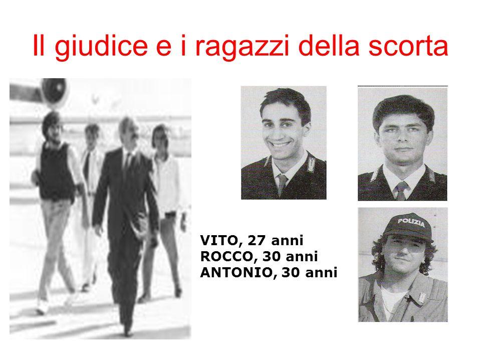 Il giudice e i ragazzi della scorta VITO, 27 anni ROCCO, 30 anni ANTONIO, 30 anni