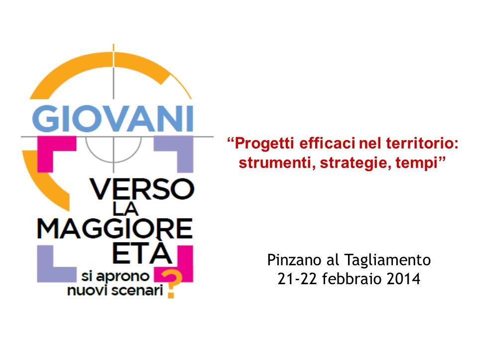 Pinzano al Tagliamento 21-22 febbraio 2014 Progetti efficaci nel territorio: strumenti, strategie, tempi