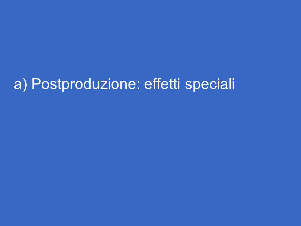 a) Postproduzione: effetti speciali