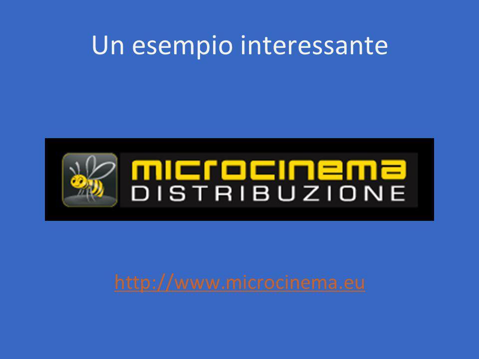 Un esempio interessante http://www.microcinema.eu