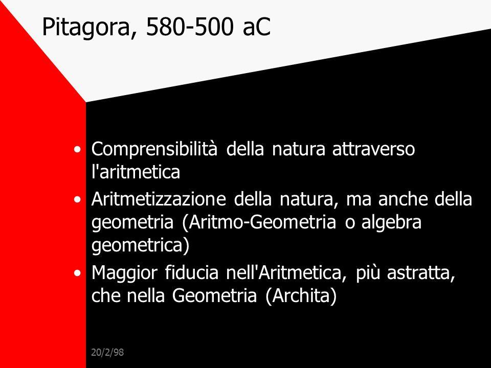 20/2/98 G. Gentile, 1916 Ogni scienza è... empirica e dogmatica, perché presuppone di conoscere il conosciuto: appunto come Platone presupponeva allo