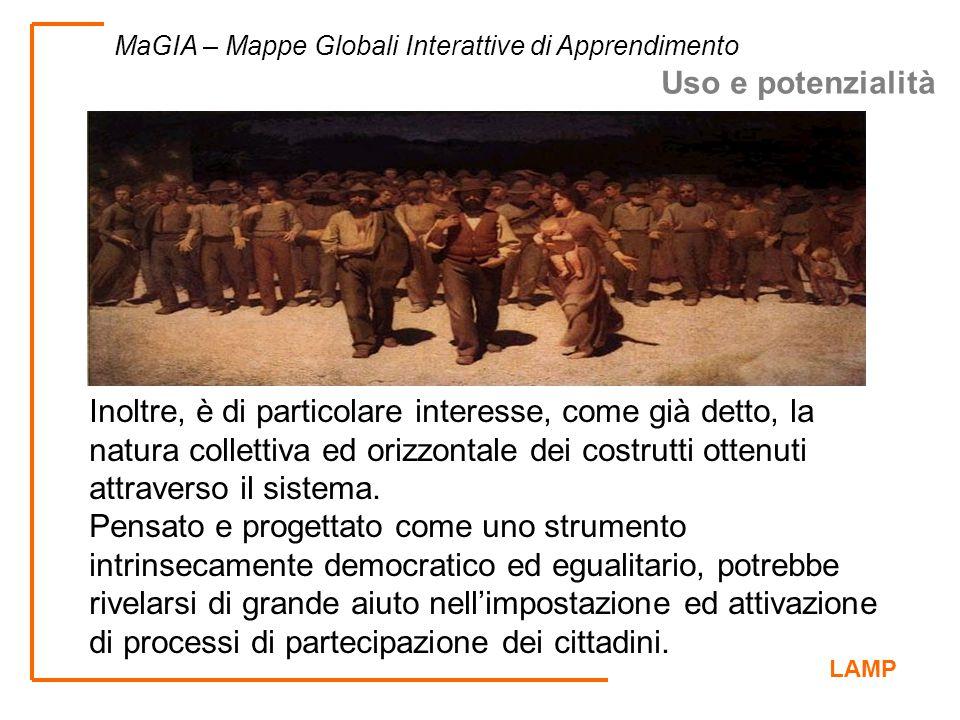 LAMP MaGIA – Mappe Globali Interattive di Apprendimento Inoltre, è di particolare interesse, come già detto, la natura collettiva ed orizzontale dei c