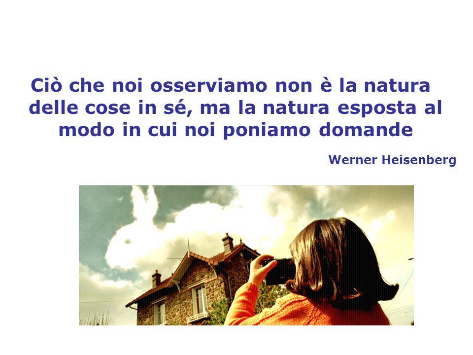 Ciò che noi osserviamo non è la natura delle cose in sé, ma la natura esposta al modo in cui noi poniamo domande Werner Heisenberg