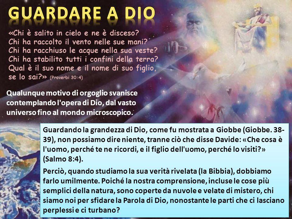 «Chi è salito in cielo e ne è disceso. Chi ha raccolto il vento nelle sue mani.