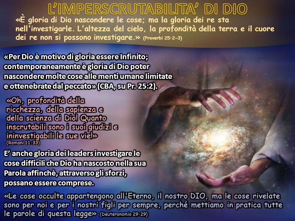 «Nella Parola di Dio ci sono profondi misteri, e le menti che non sono aiutate dallo Spirito di Dio saranno incapaci di scoprire.