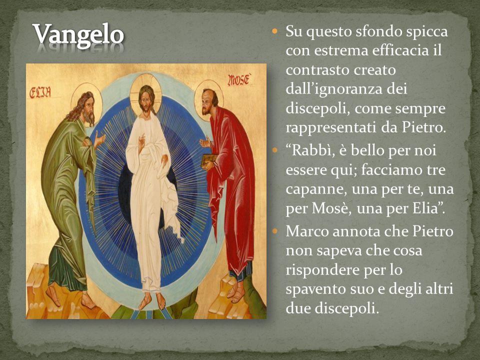 Su questo sfondo spicca con estrema efficacia il contrasto creato dall'ignoranza dei discepoli, come sempre rappresentati da Pietro.