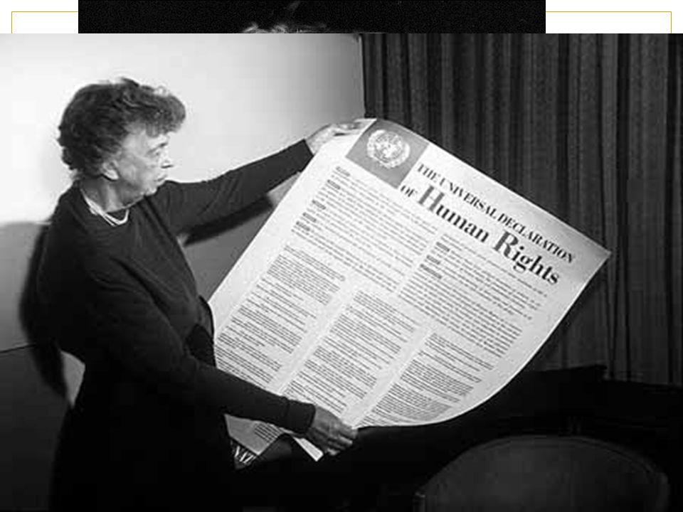 Gossip … ben noto Vi presento Eleanor Roosevelt… ex first lady prima delegata statunitense all'ONU presidente della Commissione ONU per i Diritti Uman