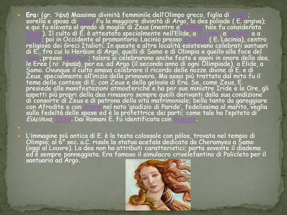 Eris (dal greco antico Ἔ ρις, «conflitto, lite, contesa», in italiano anche Eride ) era, nelle religioni e nella mitologia dell antica Grecia, la dea della discordia.