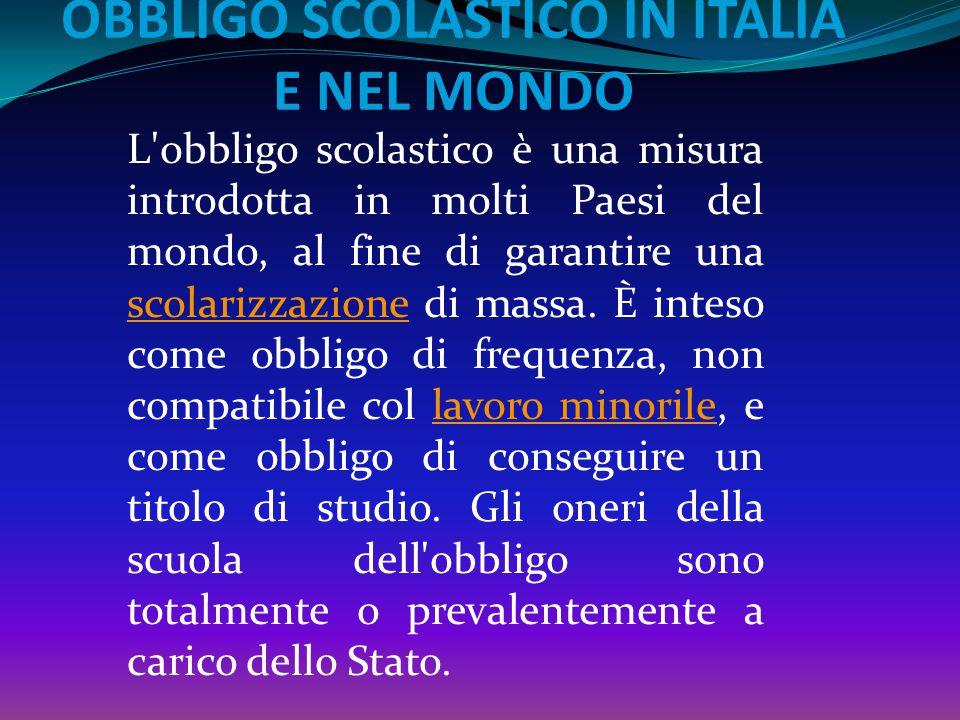 Nel 1999 con la riforma Moratti l'obbligo scolastico viene innalzato a 15 anni con obbligo di formazione (frequenza di stage, corsi di formazione prof