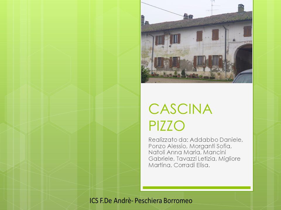 CASCINA PIZZO Realizzato da: Addabbo Daniele, Ponzo Alessio, Morganti Sofia, Natoli Anna Maria, Mancini Gabriele, Tavazzi Letizia, Migliore Martina, Corradi Elisa.