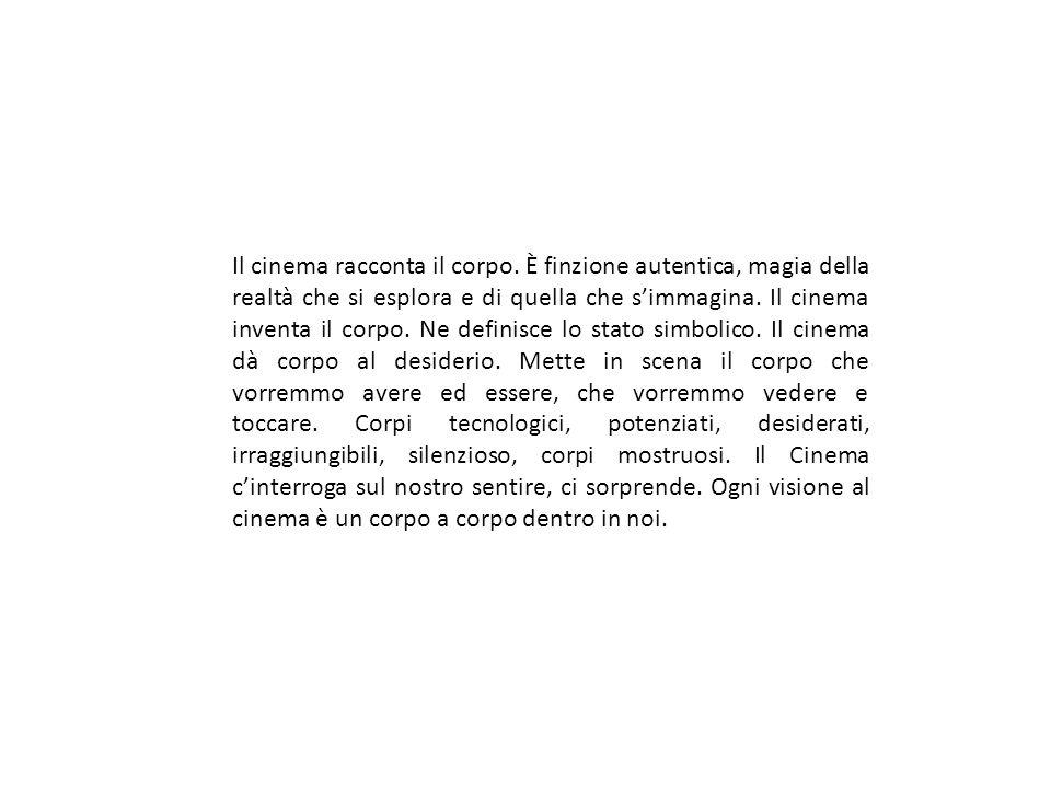 Il cinema racconta il corpo.