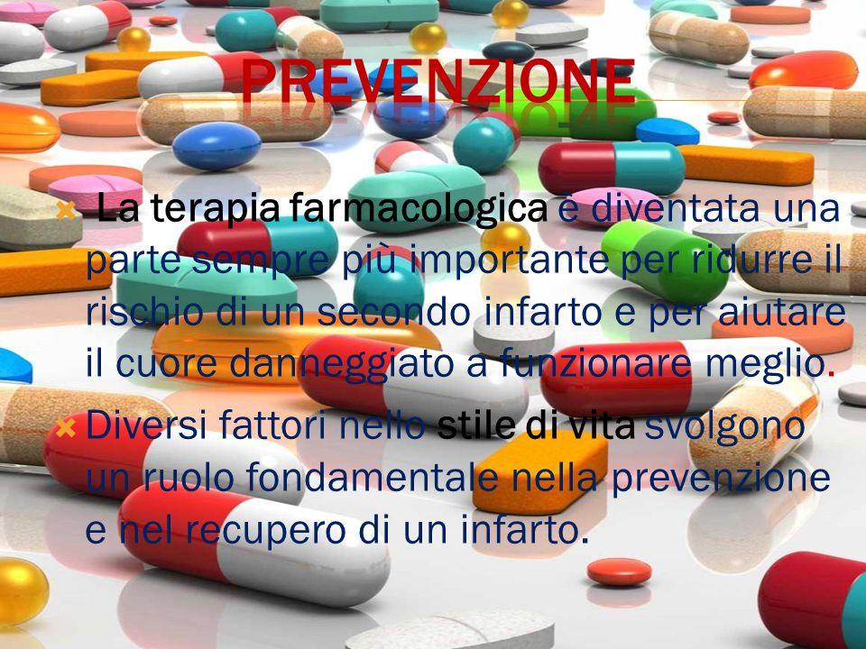  La terapia farmacologica è diventata una parte sempre più importante per ridurre il rischio di un secondo infarto e per aiutare il cuore danneggiato