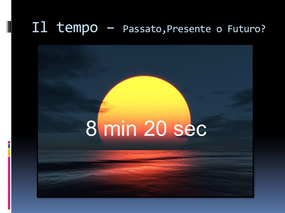 Il tempo – Passato,Presente o Futuro? 8 min 20 sec