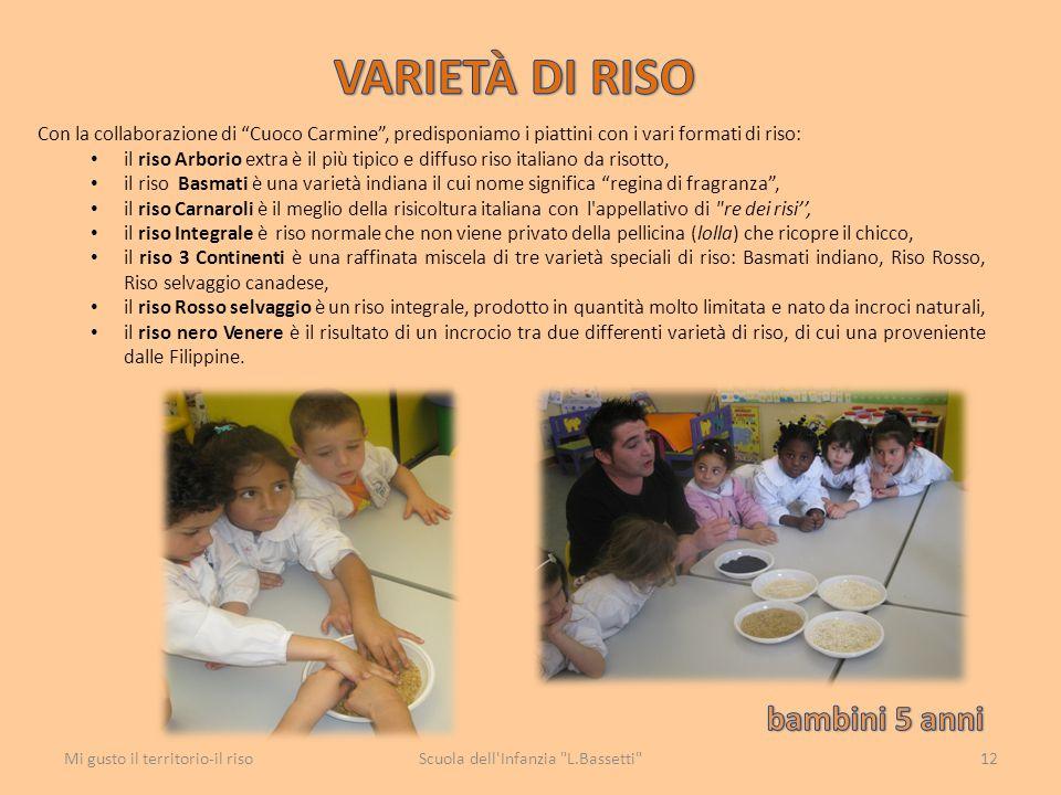 """Con la collaborazione di """"Cuoco Carmine"""", predisponiamo i piattini con i vari formati di riso: il riso Arborio extra è il più tipico e diffuso riso it"""