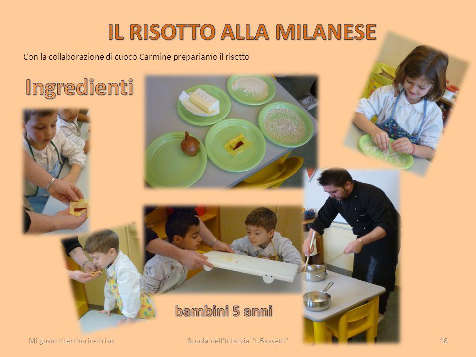 Con la collaborazione di cuoco Carmine prepariamo il risotto Scuola dell'Infanzia