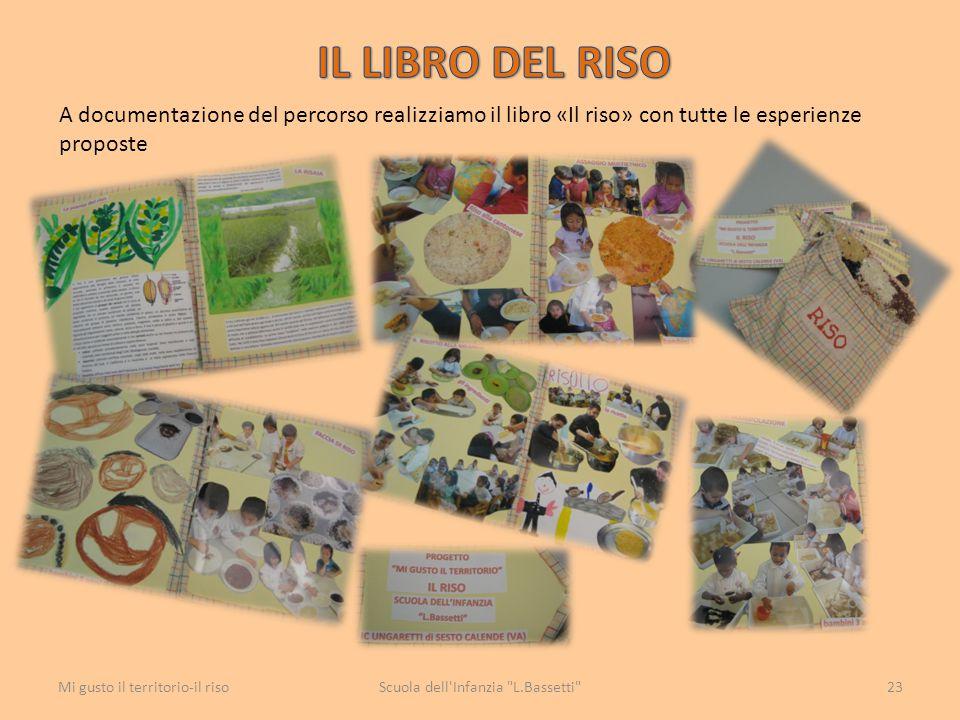 A documentazione del percorso realizziamo il libro «Il riso» con tutte le esperienze proposte Scuola dell'Infanzia
