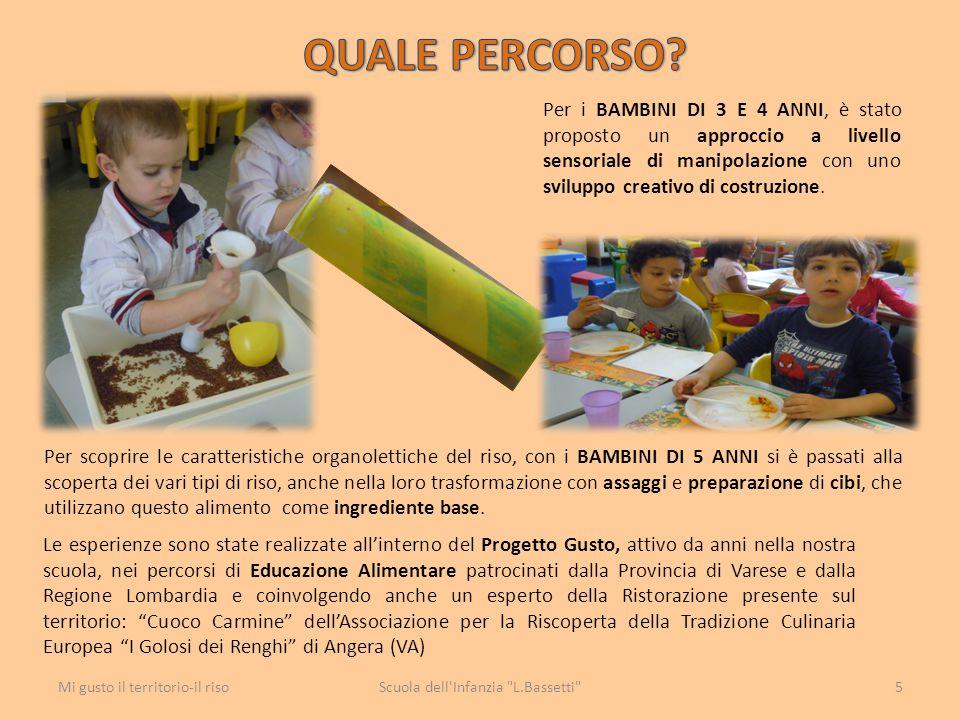 ASSAGGIO VARIETÁ DI RISO: presentiamo ai bambini, su vassoi e in piattini di plastica separati, le varietà di riso cotte.