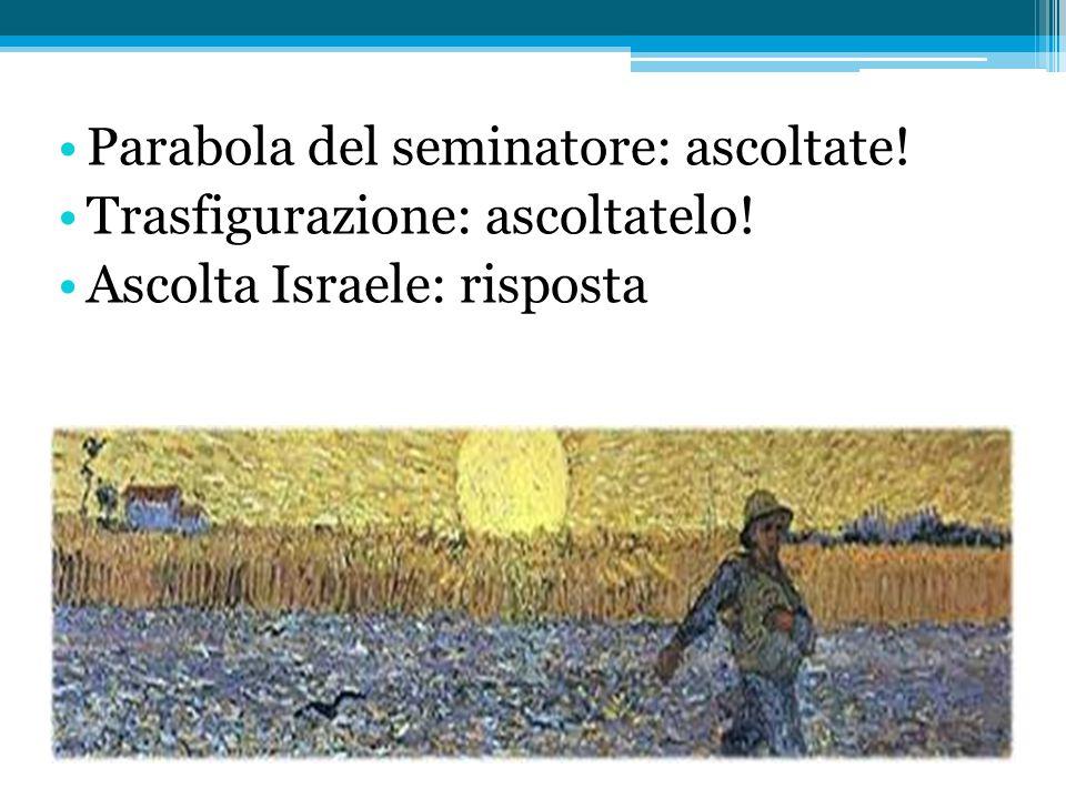 Parabola del seminatore Genere: parabola Contesto: ostilità