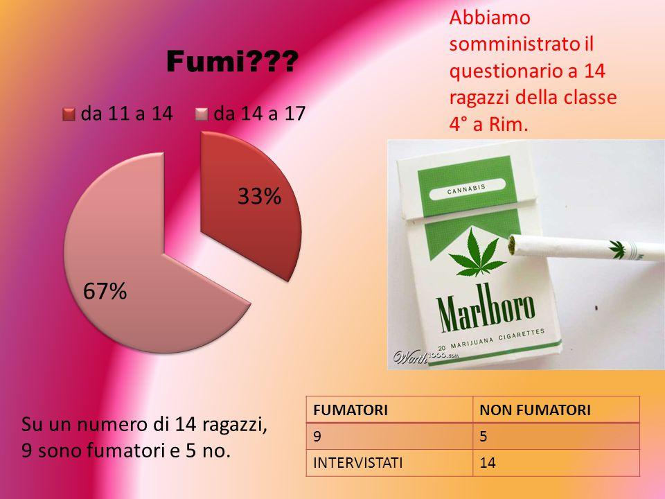 Questionario sul fumo