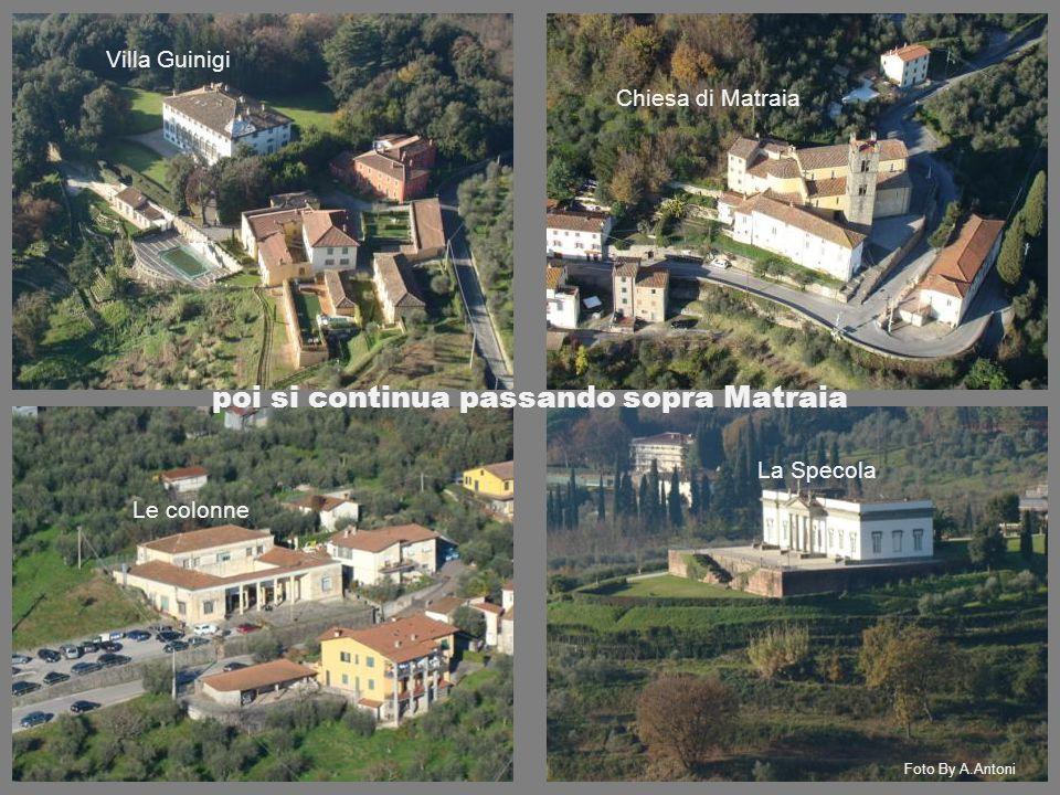 poi si continua passando sopra Matraia Foto By A.Antoni Le colonne La Specola Villa Guinigi Chiesa di Matraia