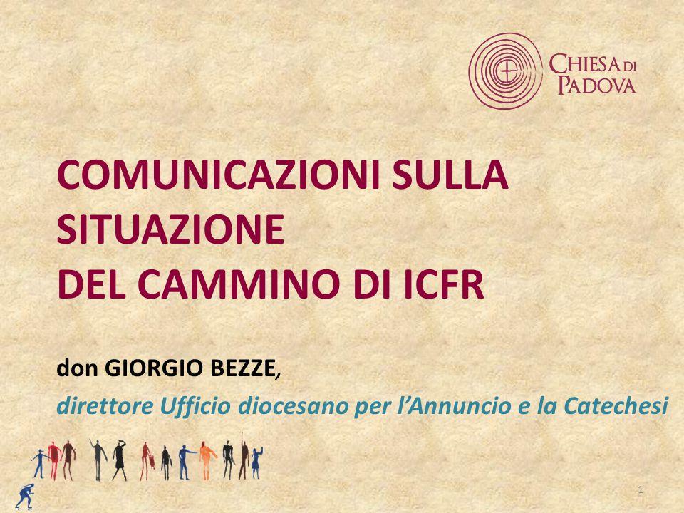 1 COMUNICAZIONI SULLA SITUAZIONE DEL CAMMINO DI ICFR don GIORGIO BEZZE, direttore Ufficio diocesano per l'Annuncio e la Catechesi