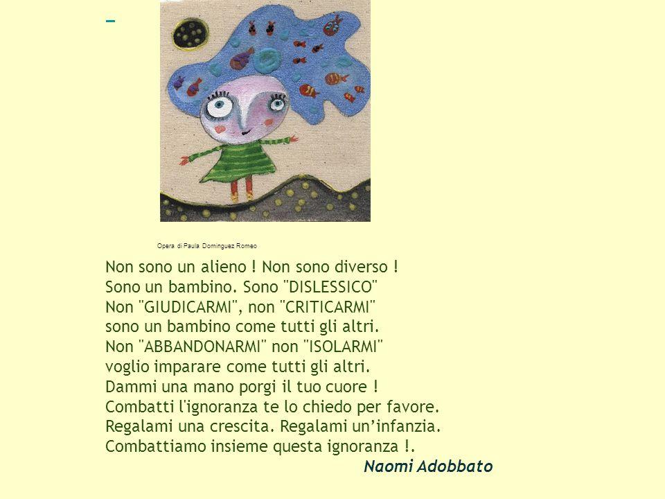 Opera di Paula Dominguez Romeo Non sono un alieno .