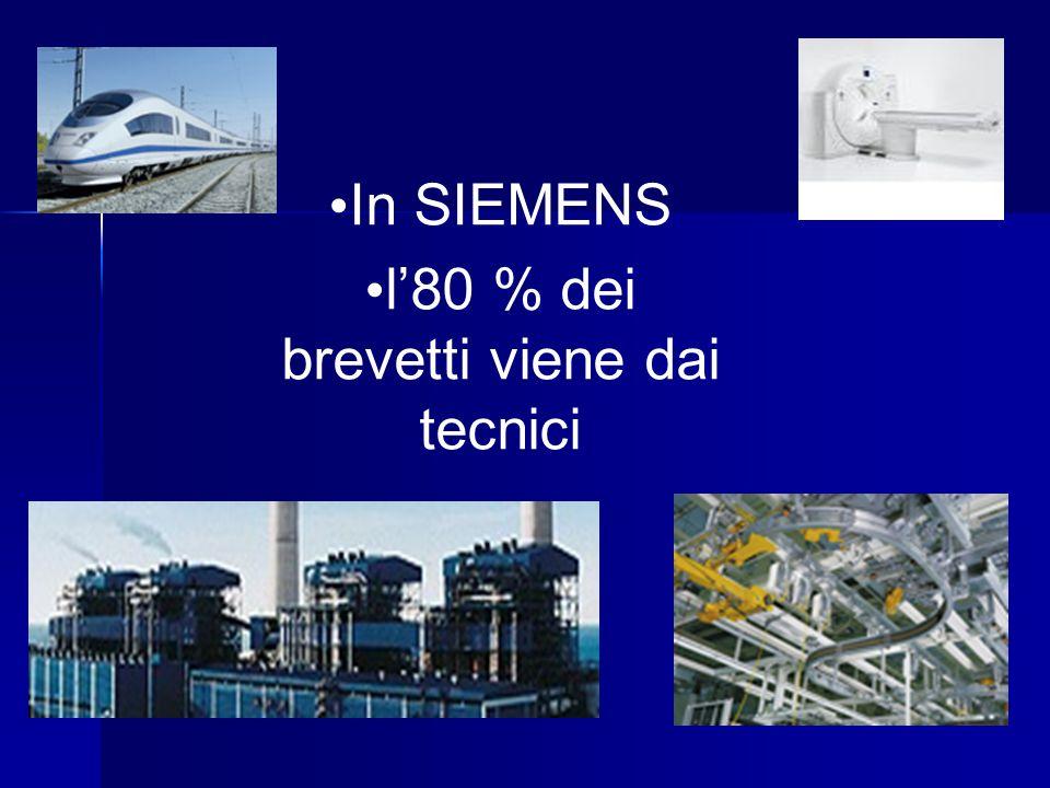 In SIEMENS l'80 % dei brevetti viene dai tecnici