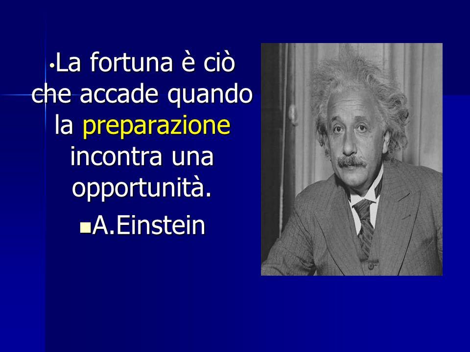 La fortuna è ciò che accade quando la preparazione incontra una opportunità. La fortuna è ciò che accade quando la preparazione incontra una opportuni