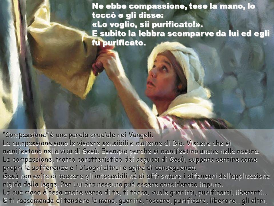 In quel tempo, venne da Gesù un lebbroso, che lo supplicava in ginocchio e gli diceva: «Se vuoi, puoi purificarmi!». Un lebbroso, un uomo azzardato, s