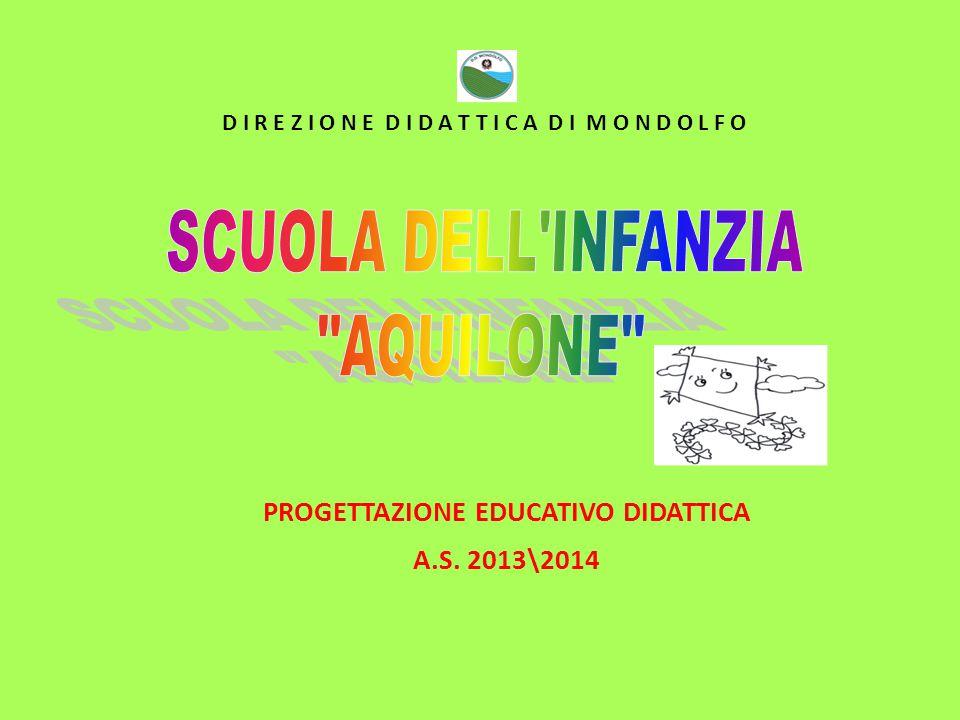 PROGETTAZIONE EDUCATIVO DIDATTICA A.S. 2013\2014 D I R E Z I O N E D I D A T T I C A D I M O N D O L F O